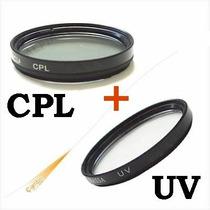 Filtro Polarizador Cpl + Uv 52mm Para Nikon Lente 18-55