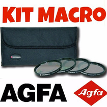 Kit Macro Agfa Hd Close-up Fullhd 77mm Nikon Canon O Melhor
