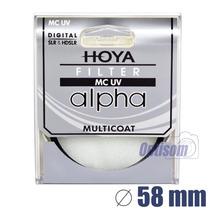 Filtro Hoya Uv Multi Camada Alpha 58mm - Temos Loja
