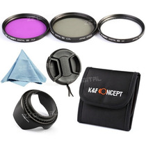 Kit 3 Filtros De Lente Hd Nikon 52 Mm Fld Cpl Uv + Brindes