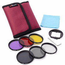 Kit Filtros Para Gopro Hero 3+ E 4 Cpl Uv Nd4 52mm Tb Nikon