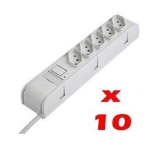 10 Filtro De Linha Régua 5 Tomadas Proteção Rede Atacado