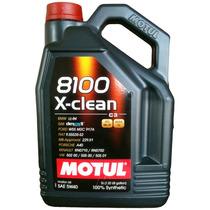 Kit C/5 Lts Óleo Motul 8100 X-clean 5w40 100% Sintético
