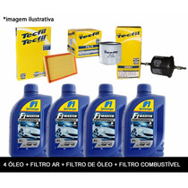 Kit Troca De Óleo C/ Filtros Top Logan Sandero Clio 1.0 16v