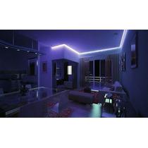 Kit Fita Led 20m Azul +5m Branco Frio Sanca Gesso Iluminação