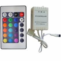 Controlador+controle 24 Teclas Para Fita Led Rgb 5050 E 3528