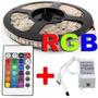 Kit 03 Fita Led 5050 Rgb+1 Fonte 15a+2 Emenda+2 Amplificador