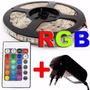 Fita Led Rgb 5050 Rolo 5m 300 Leds + Controle + Fonte 5m