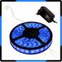Fita Super Led 5050 Rolo 5m 300 Leds + Fonte Grátis - Azul