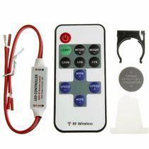 Controle Remoto Sem Fio Wireless Dimmer Fita Led 12v Lâmpada