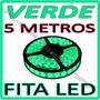 Fita Led Rolo 5m 300 Leds Prova D´agua + Fonte - ** Verde **