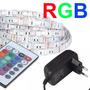 Fita Led Rgb 5050 1m C/ Silicone + Controle + Fonte