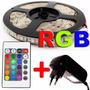 Fita Led Com 5 Metros 5050 Rgb + Fonte 2a 12v + Controlador
