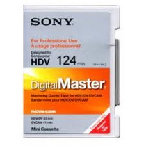 Fita Sony Hdv Dvcam 124mm Digital Master Phdv-124dm Nova