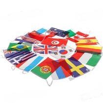 Bandeiras Nacionais 18 Peças Conjunto Completo Frete R$ 10,0