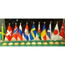 Bandeiras De Mesa Países: Angola, Israel, Líbano, Russia.