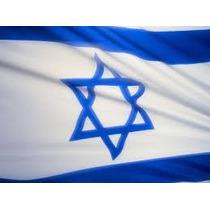 Bandeira Israel 1,5mx90cm Festas Decoração Estrela Davi