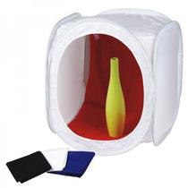 Mini Estúdio Fotográfico 80cm Quadrado Tenda Difusora De Luz