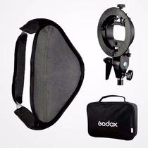 Softbox P/ Flash Speedlite Universal 60x60 Canon Nikon Sony