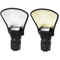 Rebatedor Universal Flash 2 Cor Dourado E Prata Canon Nikon