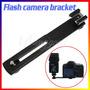 Suporte Bracket Para Flash E Câmera P/ Canon Nikon Sony