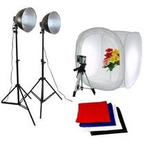 Kit Mini Estúdio Tenda 80x80 Foto Still Com Iluminação 220v