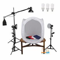 Kit Still C/ Iluminação Mini Estúdio Fotografico 80x80 110v