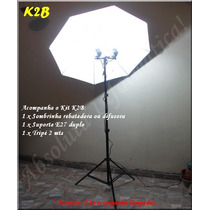 Kit Luz Continua K2b P/ Estudio Fotografico Suporte Duplo