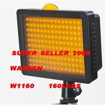 Iluminador 160 Leds 1280 Lux Sungun W160 + Bateria F570