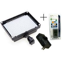 Iluminador Led W260 2100lm Com Bateria 6600 Mah E Carregador