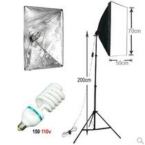 Kit Iluminação Newborn Filmagem Softbox E27 50x70cm Tripé