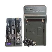 Bateria Np-f970 P/ Sony + Carregador P/ Iluminador Led