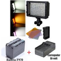 Iluminador Profissional De 126 Led+bateria+carreg-temos Loja