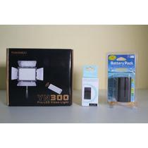 Iluminador Yn 300 Yn300 Led + Bateria F970 + Carregador