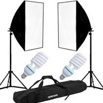 Kit Iluminação Contínua 750w Newborn Filmagem 50x70cm 110v