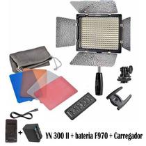 Iluminador Led Yongnuo Yn-300 Ii C/bateria F970 + Carregador