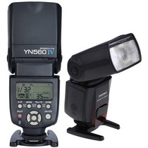 Novo Flash Yongnuo Yn560iv /yn560 4 C/ Rádio Flash Imbutido