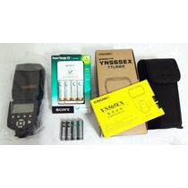 Flash Ttl Yongnuo Yn-565ex P/ Nikon + Kit Pilhas Sony Sb900