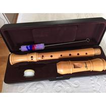Flauta Doce Barroca Soprano Madeira Maple Profissional