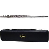 Flauta Transversal Shelter Tjs6456n Niquelada (dó) Com Case