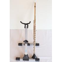 Flauta Transversal Profissional Armstrong 80 Prata Maciça Si