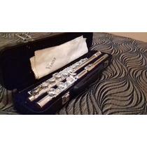 Flauta Transversal Eagle Prateada Modelo Fl03s Usada Uma Vez