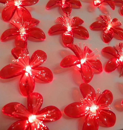 decoracao lampadas led : decoracao lampadas led:Flor Natal 20 Lampadas Pisca Pisca Led Festa Decoracao – R$ 39,60 no