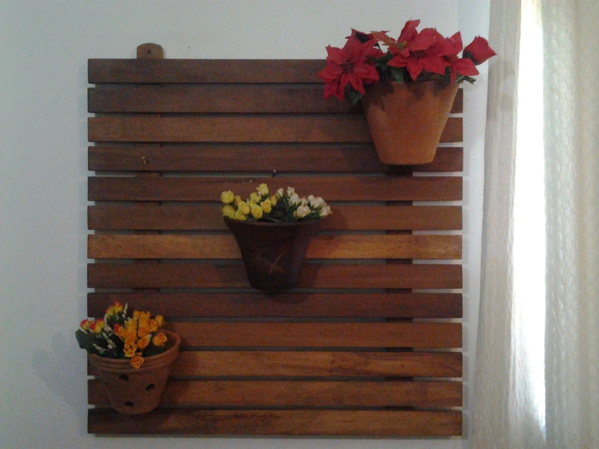Floreira Para Parede Em Madeira Maciça R$ 124 90 no MercadoLivre #653524 1200x900