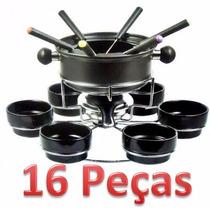 Conjunto Fondue 10 Peças Antiaderente / Aço Inox 6 Garfos