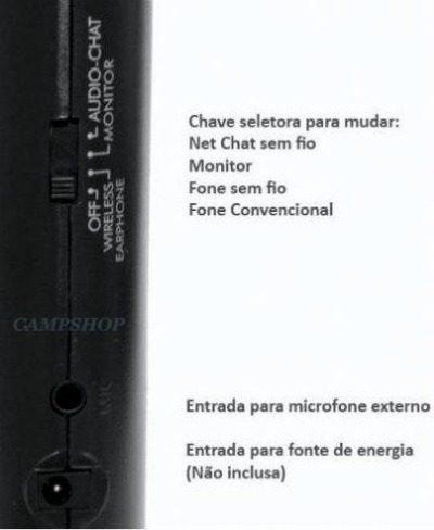 Fone De Ouvido Wireless Sem Fio 5x1 C/ Fm, Monitor, Skype Tv