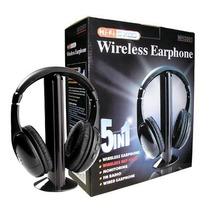 Fone De Ouvido Sem Fio 5 Em 1 Mh2001 Wireless C/ Fm Radio