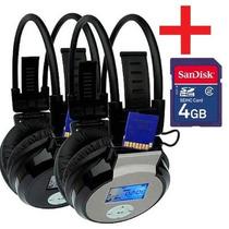 Fone De Ouvido Sem Fio Headphone Mp3 + Cartão De Memória 4gb