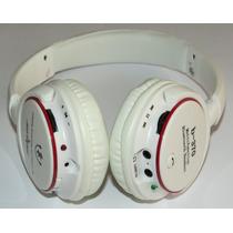 Fone De Ouvido Bluetooth Estéreo Sem Fio Micro Sd Rádio Fm