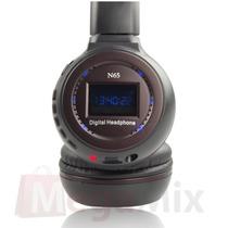 10 Fone De Ouvido Headphone Sem Fio Lcd Sd Card Mp3 Usb